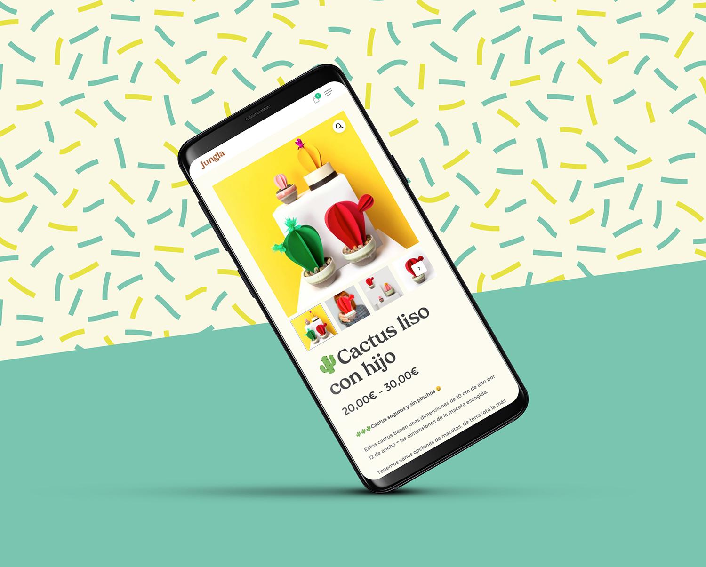 Diseño web con tienda online. Versión móvil.