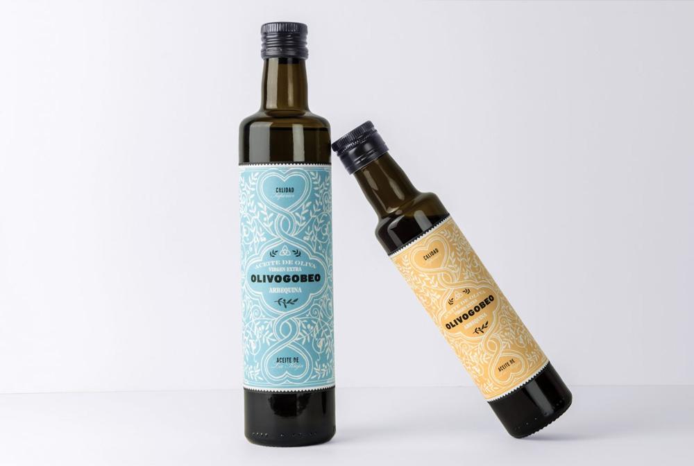 Fotografía y diseño de etiquetas aceite de oliva olivogobeo