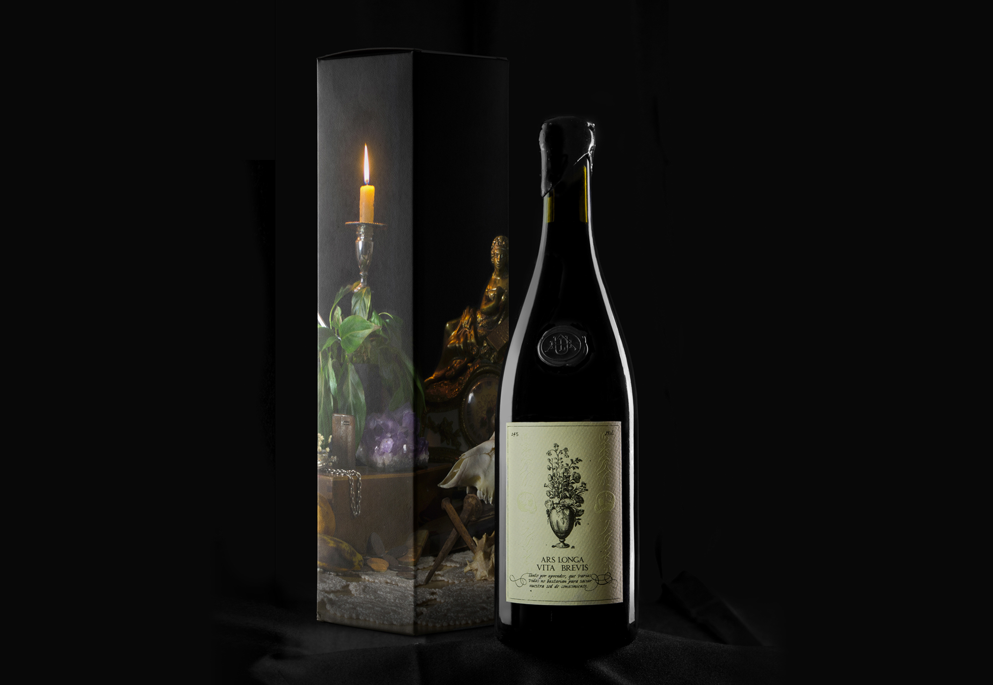 Diseño de caja y botella Ars Longa