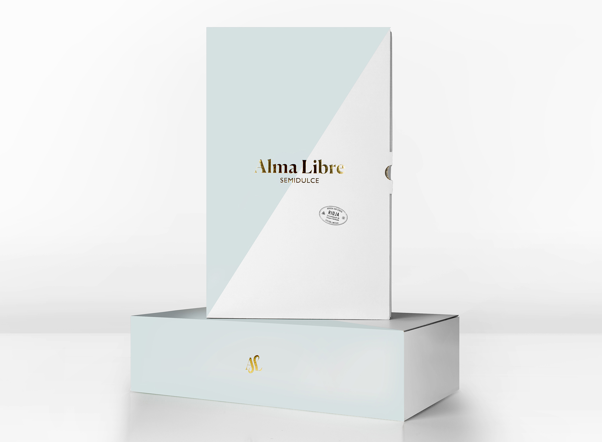 Diseño de packaging de caja vino. Alma libre.