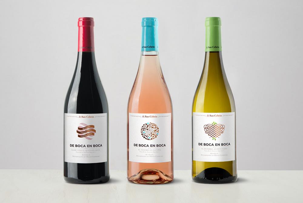 Diseño de etiqueta y naming de vinos jóvenes de boca en boca