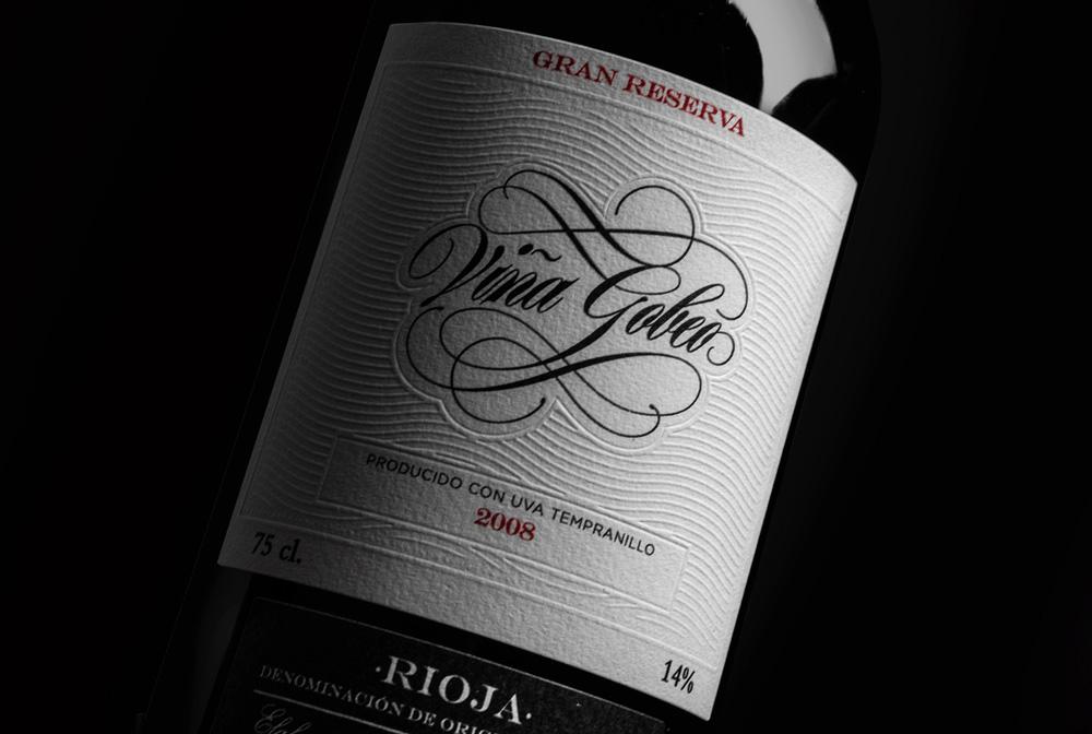 Diseño y fotografía detalle Vino Gran Reserva Viña Gobeo