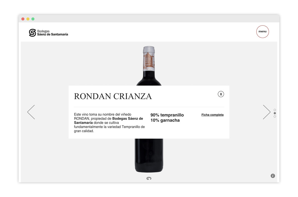 Diseño web y tienda online bodega SS. 5