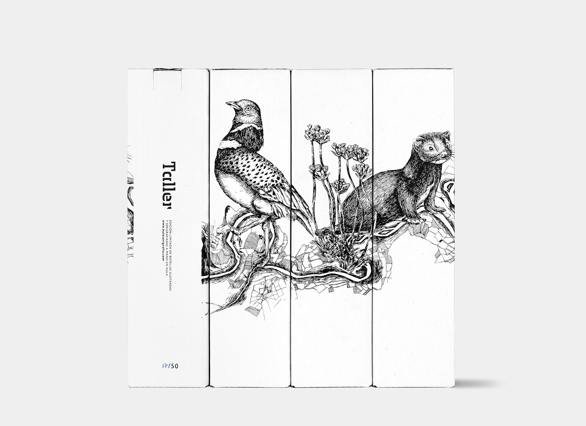 Ilustración y diseño de packaging Taller. Reivindicación de la flora y fauna en extinción de La Rioja.