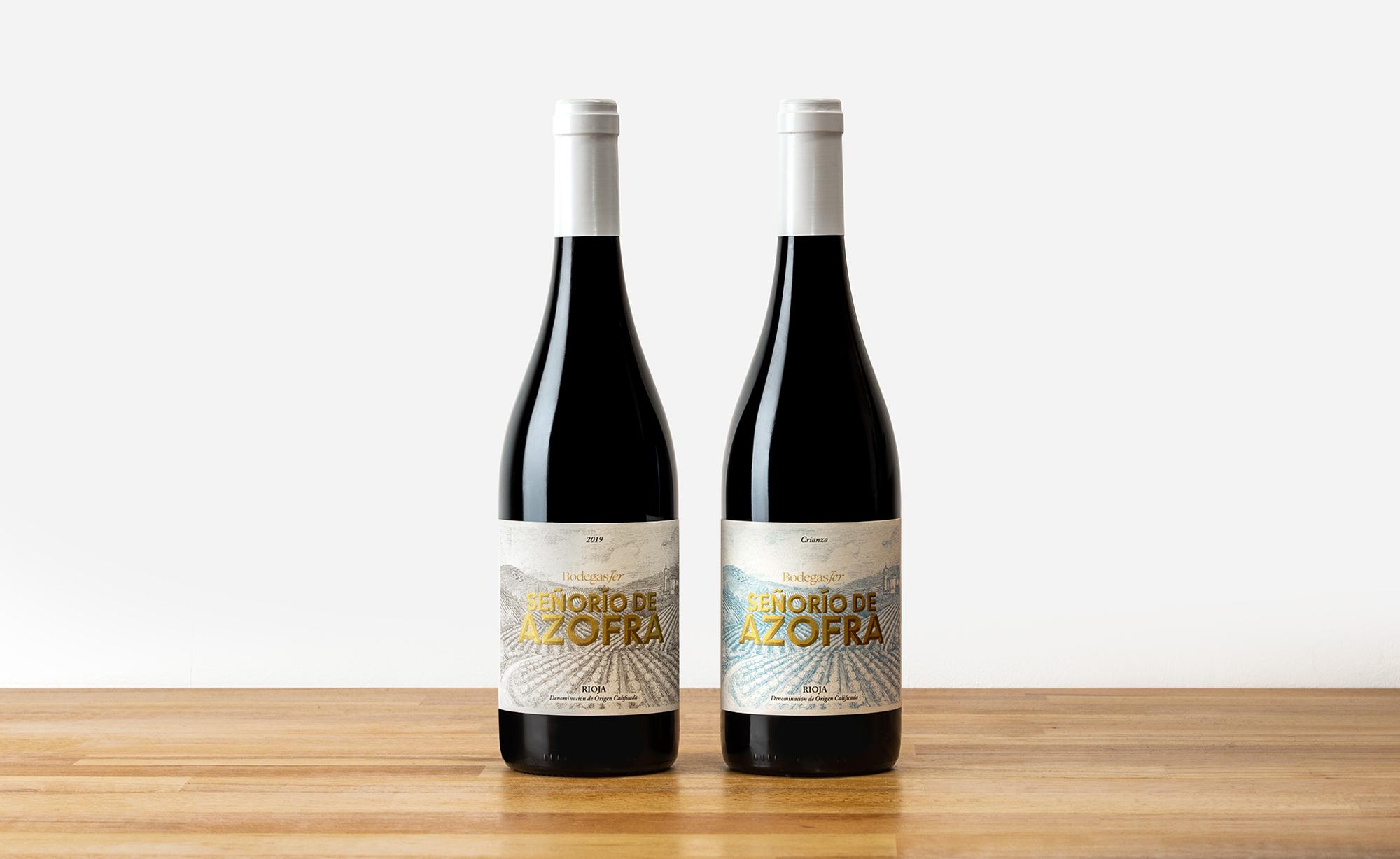 Diseño de etiquetas de vino Señorio de Azofra