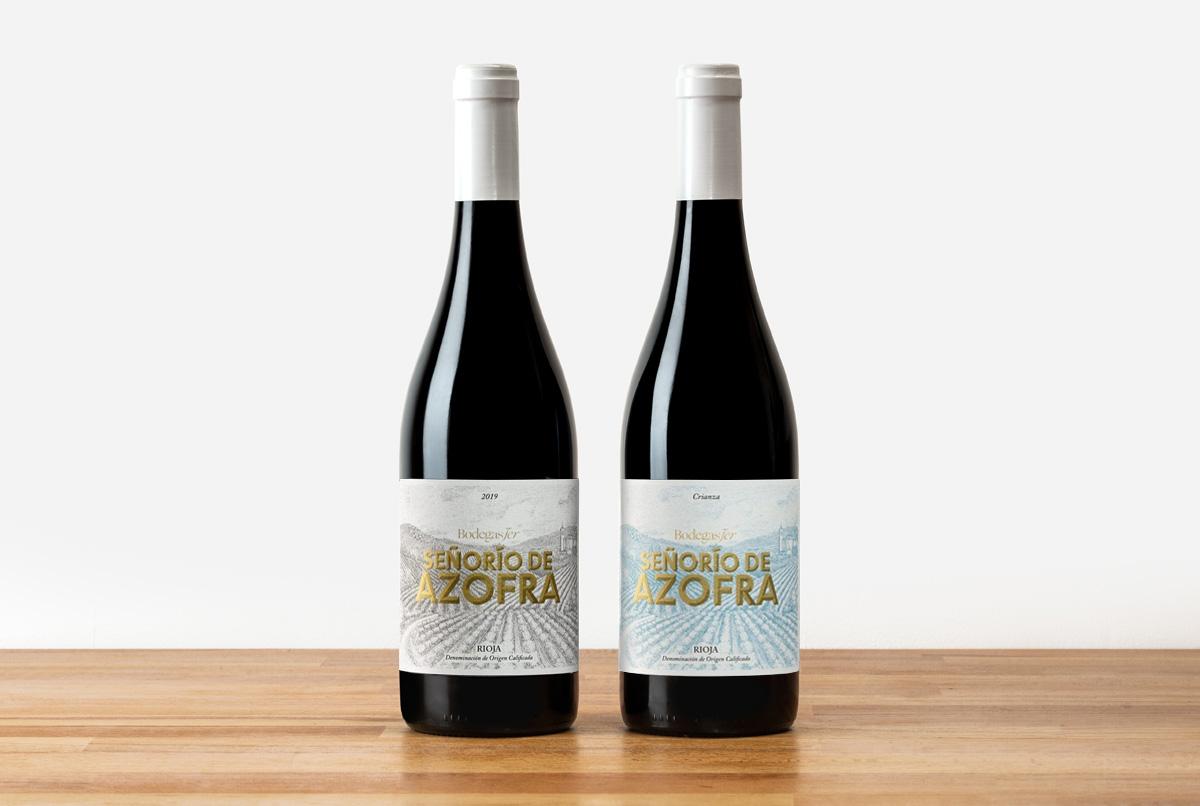 Diseño de etiquetas de vino Señorío de Azofra