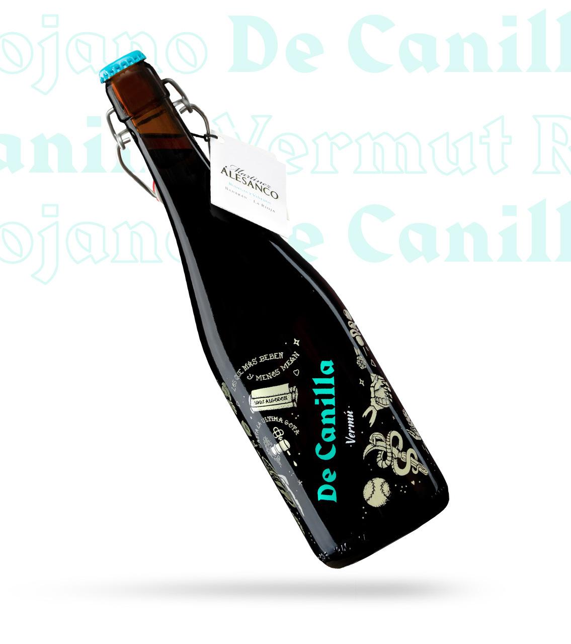 Diseño botella Vermut de Canilla