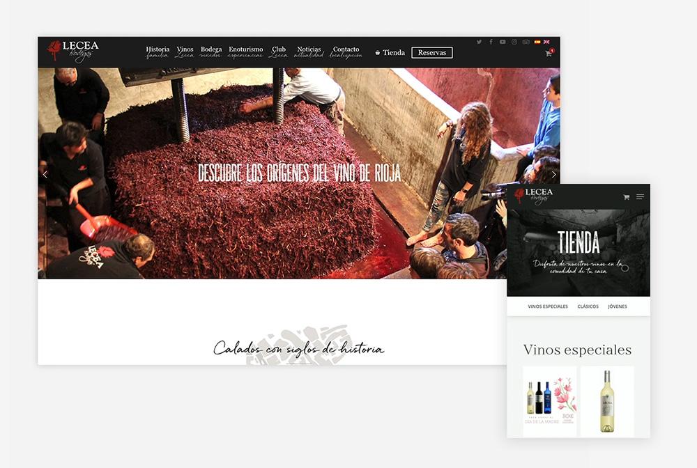 Diseño web Bodegas Lecea