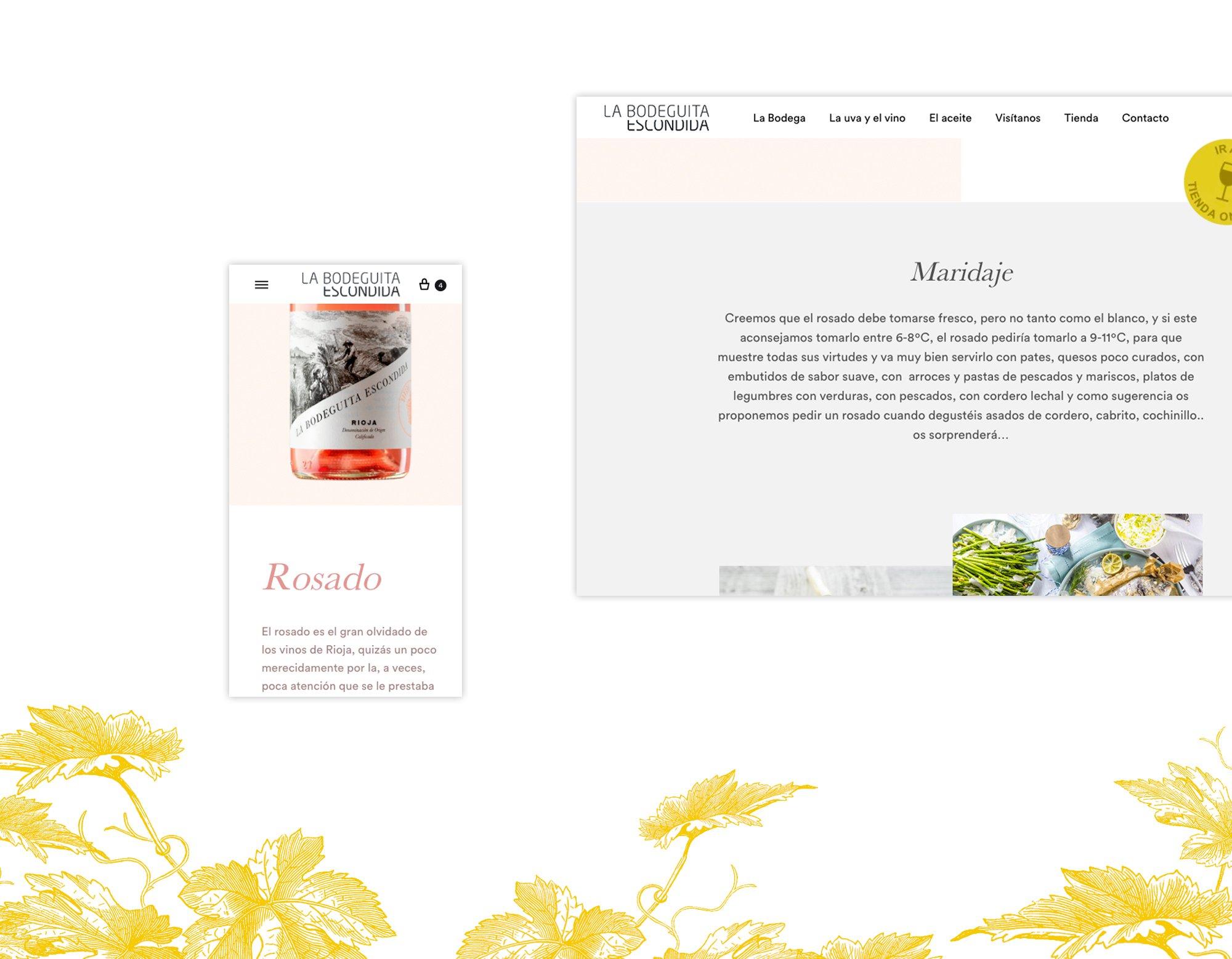 Diseño web para bodegas