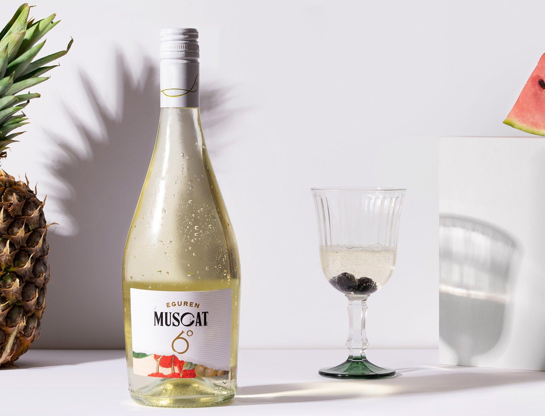 Diseño etiqueta vino: Muscat