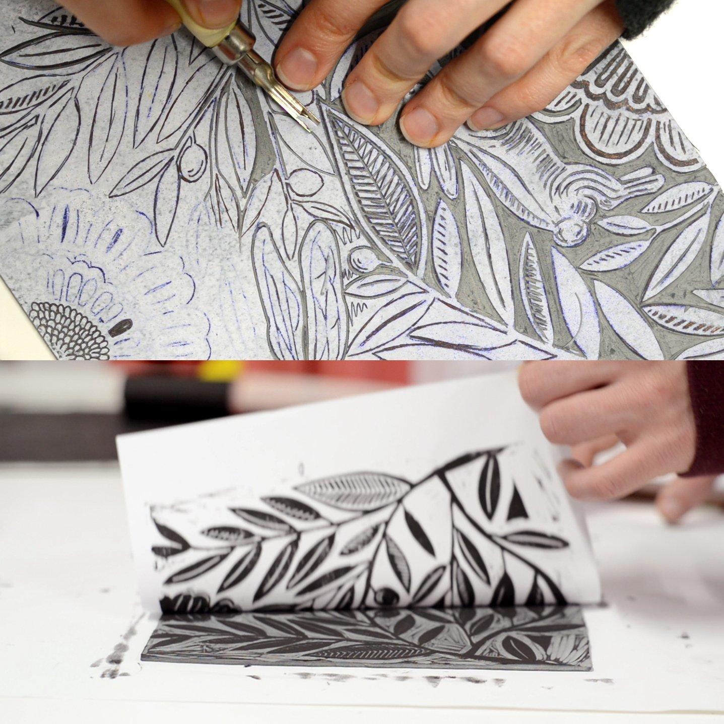 proceso grabado de ilustración