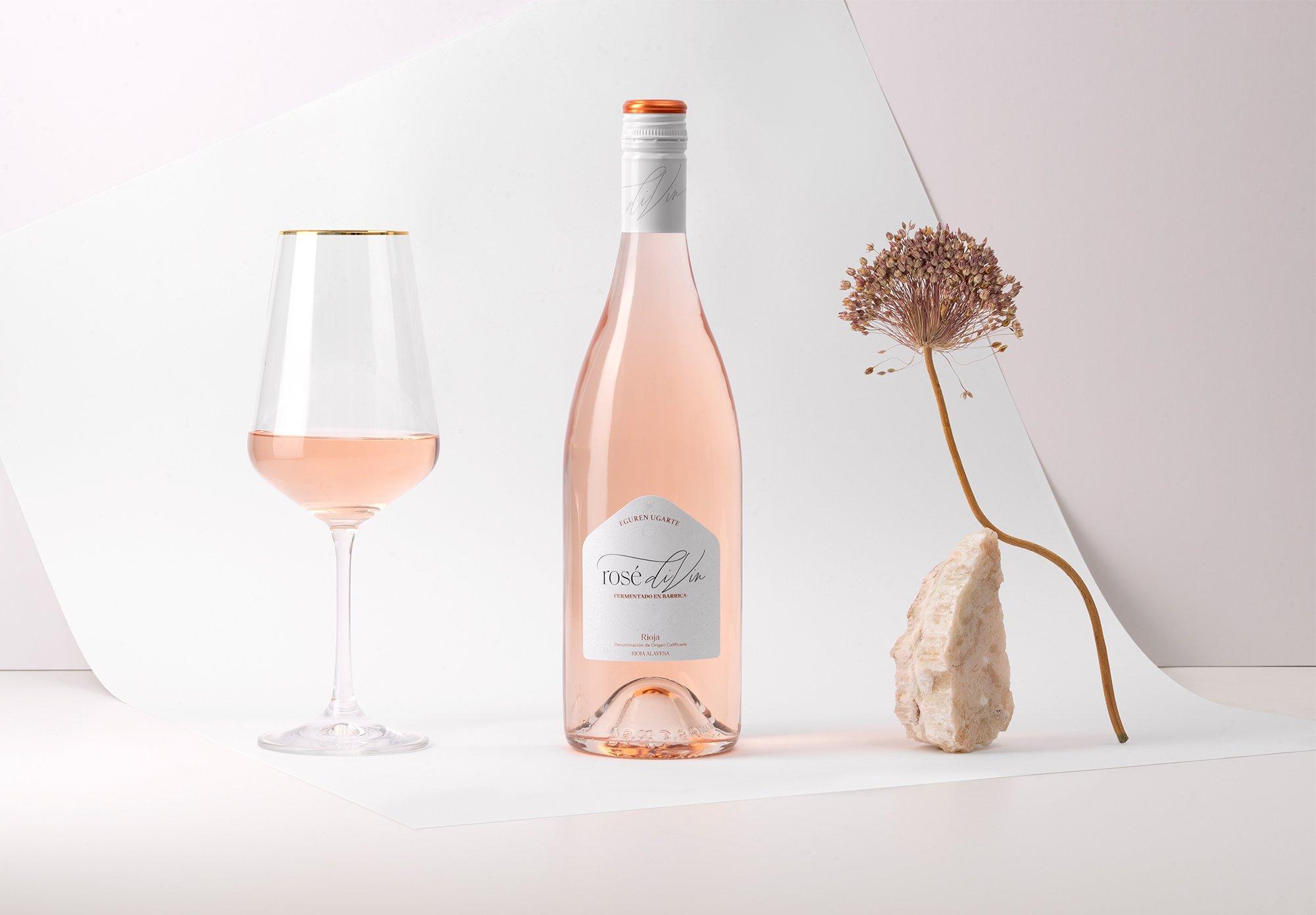 Diseño etiqueta vino: rosé diVin
